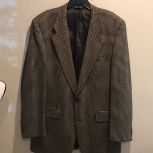 Burberry Sport Coat Blk/Brown Houndstooth Sz 46 L